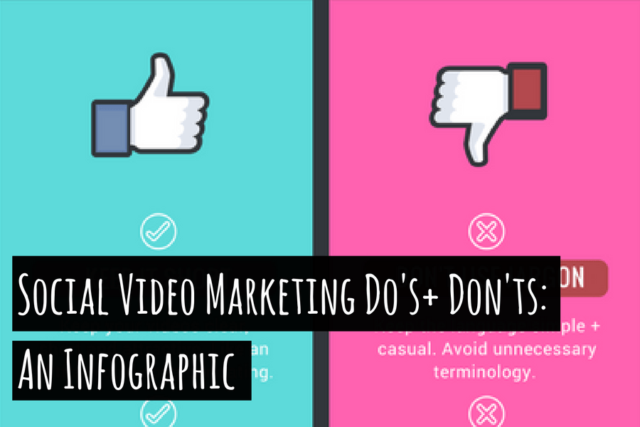 Social Video Marketing Do's + Don'ts: An Infographic
