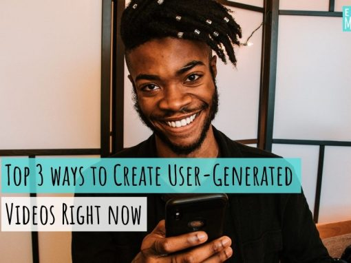 Top 3 ways to create user-generated content right now