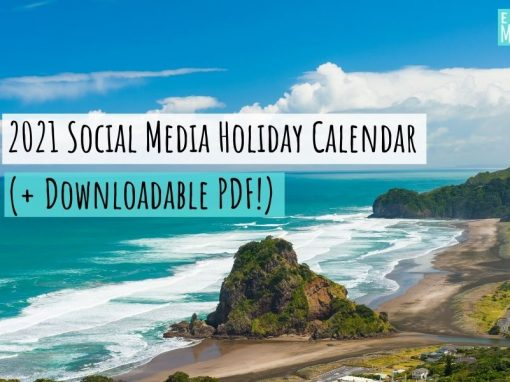 2021 Social Media Holiday Calendar